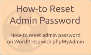 reset admin password